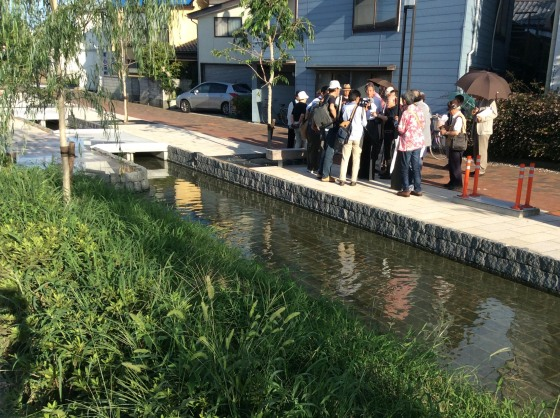 2014/07/19の総会後に、皆川袈裟雄さんに早川堀を案内していただきました。