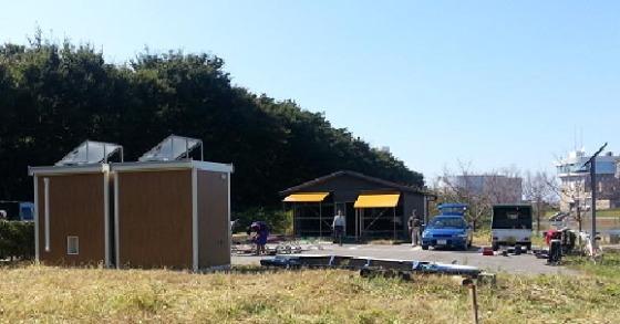 舟小屋とトイレの位置関係