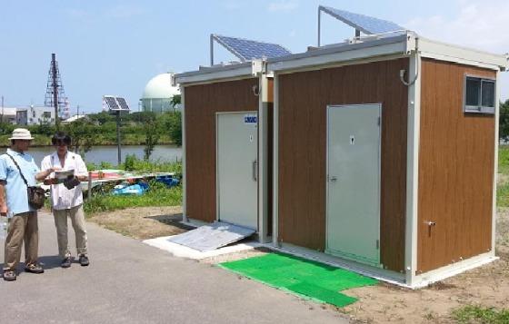 新潟市が設置してくれたトイレ