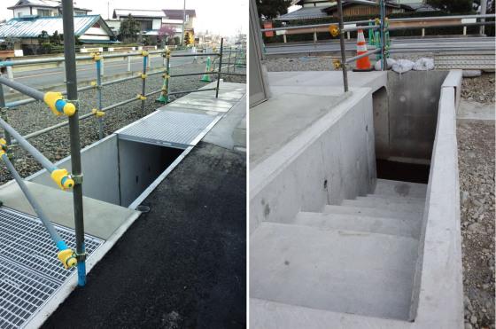 自宅前の横内堰改修工事